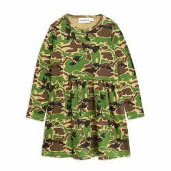 Camo LS Dress Green 8/9Y