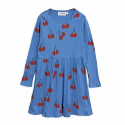 Cherry LS Dress Blue 10/11Y