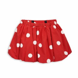 Dot Woven Skirt-Red 10/11