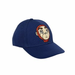 Monkey Cap Blue 6-9M