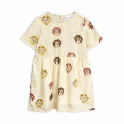Monkey Woven Dress 6/7Y