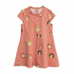 Monkeys SS Dress Pink 10/11Y