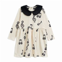 Notes AOP LS Dress 4/5Y