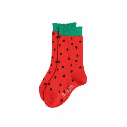 Strawberry Scallop Socks 1-2Y