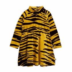 Tiger Velour LS Dress 8/9Y