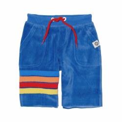 Velour Stripe Shorts Blue 3