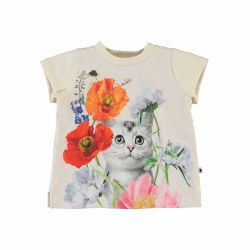 Elly Baby Tee Kitty Cat 6M