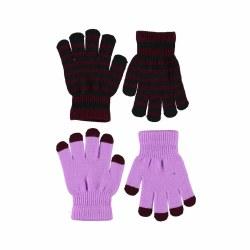 Kei Glove Set Purple 4-10Y