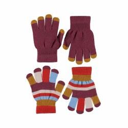 Kei Glove Set Maroon 4-10Y