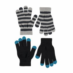 Keio Glove Set Black 2-10Y