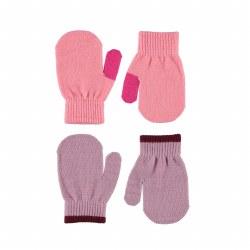 Kenny Mitten Set Pink 0-3Y