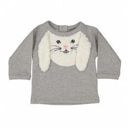 Bunny Sweatshirt Smoky 6M