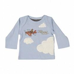 Cloudy LS Baby Tee Steel 6M