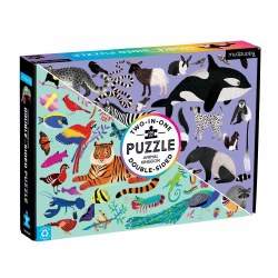 Animal Kingdom 100-Piece Double-Sided Puzzle