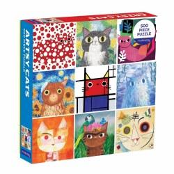 Artsy Cats 500-Piece Puzzle