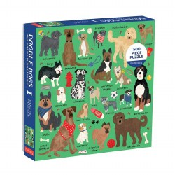 Doodle Dogs and Mixed Breeds 500-Piece Puzzle