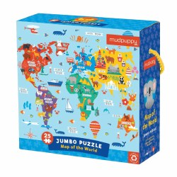 Map of the World 25-Piece Jumbo Puzzle