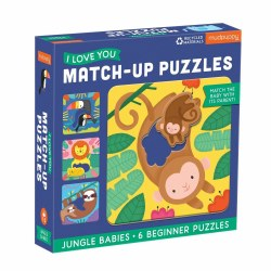Match-up Puzzles I Love You Jungle Babies