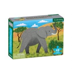 Mini Puzzle African Elephant