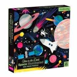 Space Illuminated 500-Piece Glow Family Puzzle