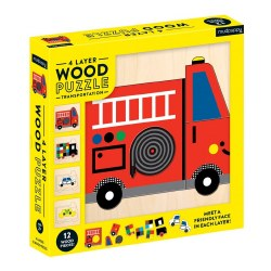 Transportation Wood Layer Puzzle