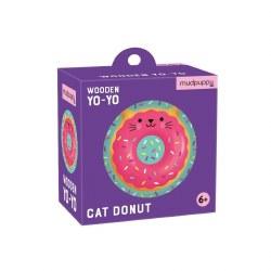 Wooden Yo-Yo Cat Donut