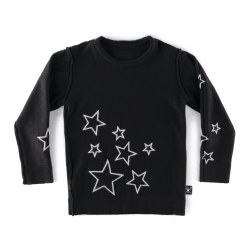Knit Star Sweater Black 3/4
