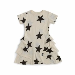 Star Layer SS Dress Nat 3/4