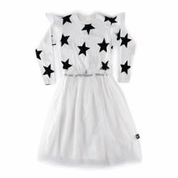Star Tulle LS Dress Wht 10/11