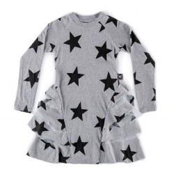 Star Layered Dress Grey 3/4