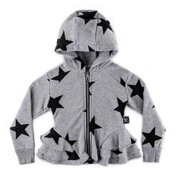 Star Ruffle Zip Hoodie G 10/11