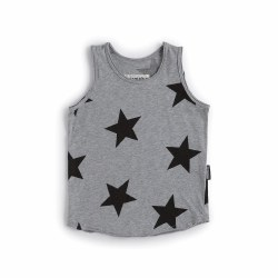 Star Tank Top Grey 3/4
