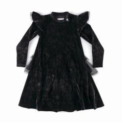 Velvet Party Dress Blk 10/11