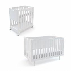 Oeuf Fawn Bassinet/Crib-White/White