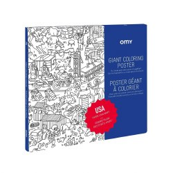 Giant Coloring Poster USA