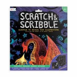 Scratch & Scribble Kit Fantastic Dragons