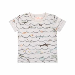 Animal Wave Cuff Baby Tee NB