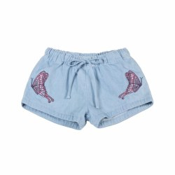 Denim Butterfly Emb Short 2