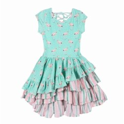 Flamingo Spot Laced Dress 10