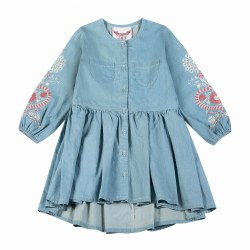 Folk Emb Button Dress 4