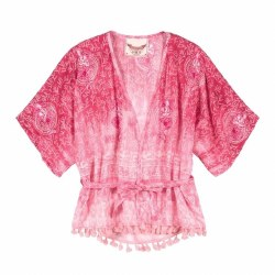 Ombre Pink Texta Kimono 2