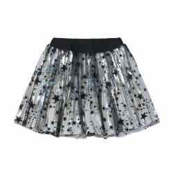 Pleated Skirt Silv/Blk Star 10