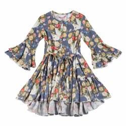 Rose Unicorn Bell Slv Dress 4