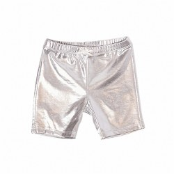 Bike Short Silver Lame 4