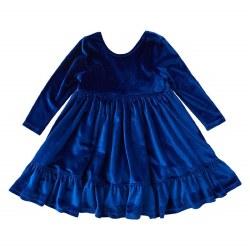 Coralee Dress Cobalt Velour 7