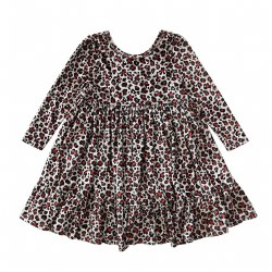 Coralee Dress Leoprd Velour 4