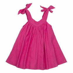 Frida Dress Shocking Pink 3