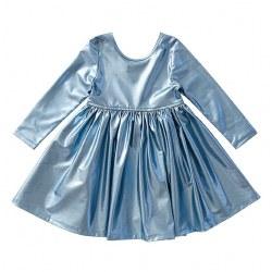 Liza Lame LS Dress Blue 10