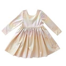 Liza Lame LS Dress Pearl 5
