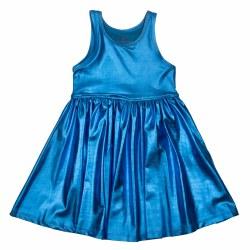 Liza Lame Dress Blue 3